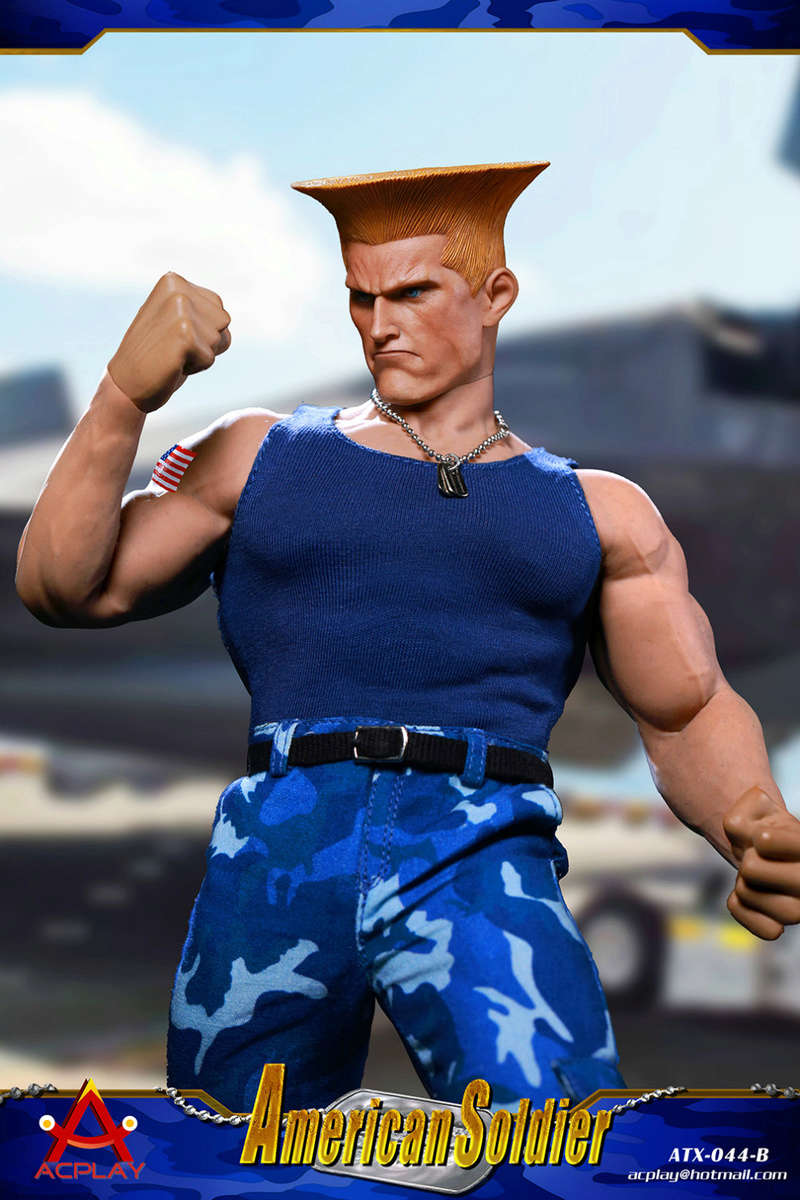 NEW PRODUCT: ACPLAY New: 1/6 Street Fighter - American Soldier Double Head Carving Set (ATX044) 26122713