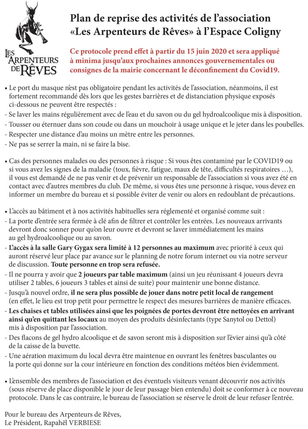 CRISE DU CORONAVIRUS : INFORMATIONS IMPORTANTES Protoc10