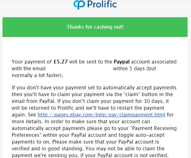 Oportunidade [Provado] Prolific Estudos online remunerados (já ganhei 100€) Eggee10