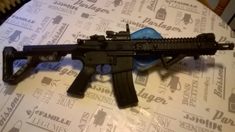 crossman M4 sbr panther arms 4,5mm bb's  Wp_20110