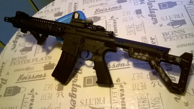 crossman M4 sbr panther arms 4,5mm bb's  Wp_20111