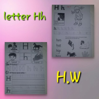 teaching letter Hh name, shape and sound Collag12