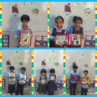 Different types and shapes of books Collag17