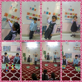 Teaching number 10 + playing counting game Collag24