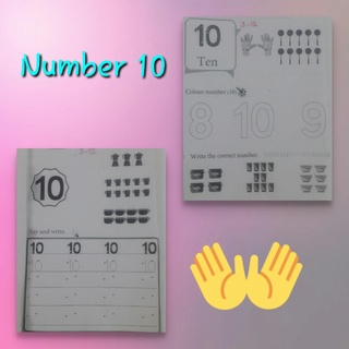 Teaching number 10 + playing counting game Collag25