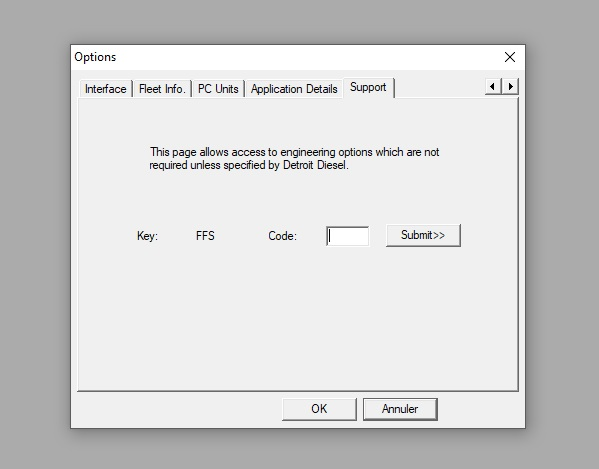 need code for detroit option in ddl6,45 Ddl10