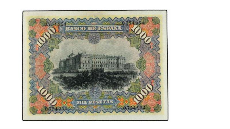 1000 Pesetas 15 Julio 1907. Palacio Real 3b07cc10