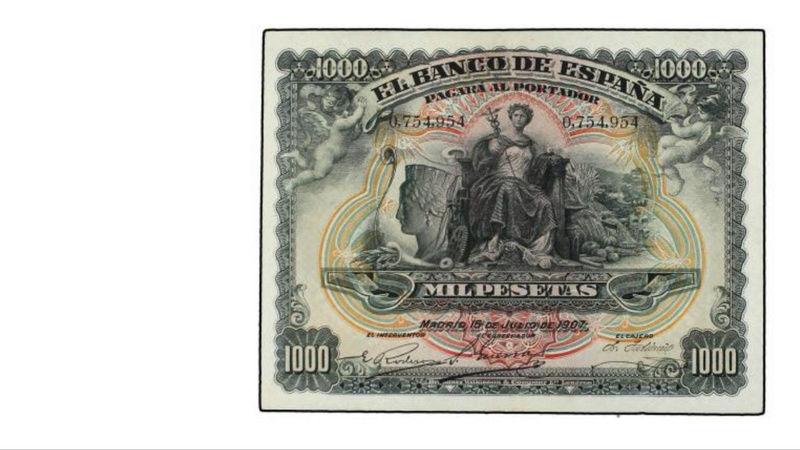 1000 Pesetas 15 Julio 1907. Palacio Real F1eb5310