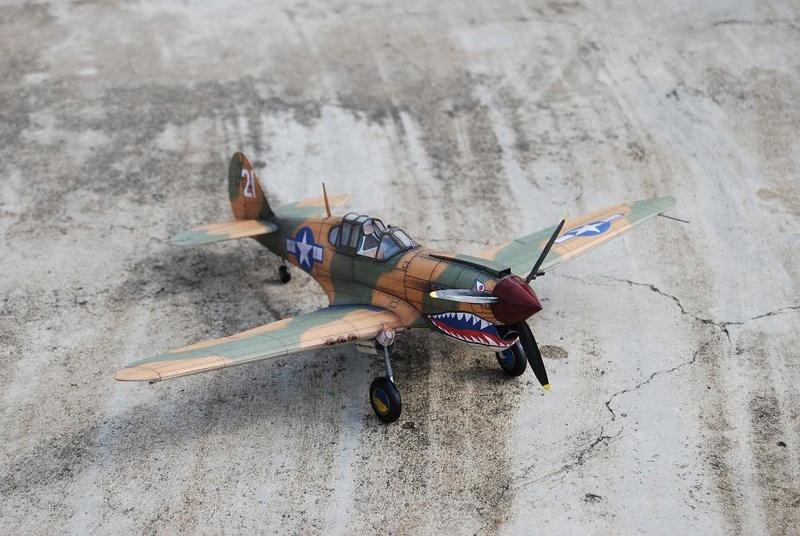 Curtiss P-40 Warhawk (l'échelle à peu pres de 1/25)  Dsc_0314