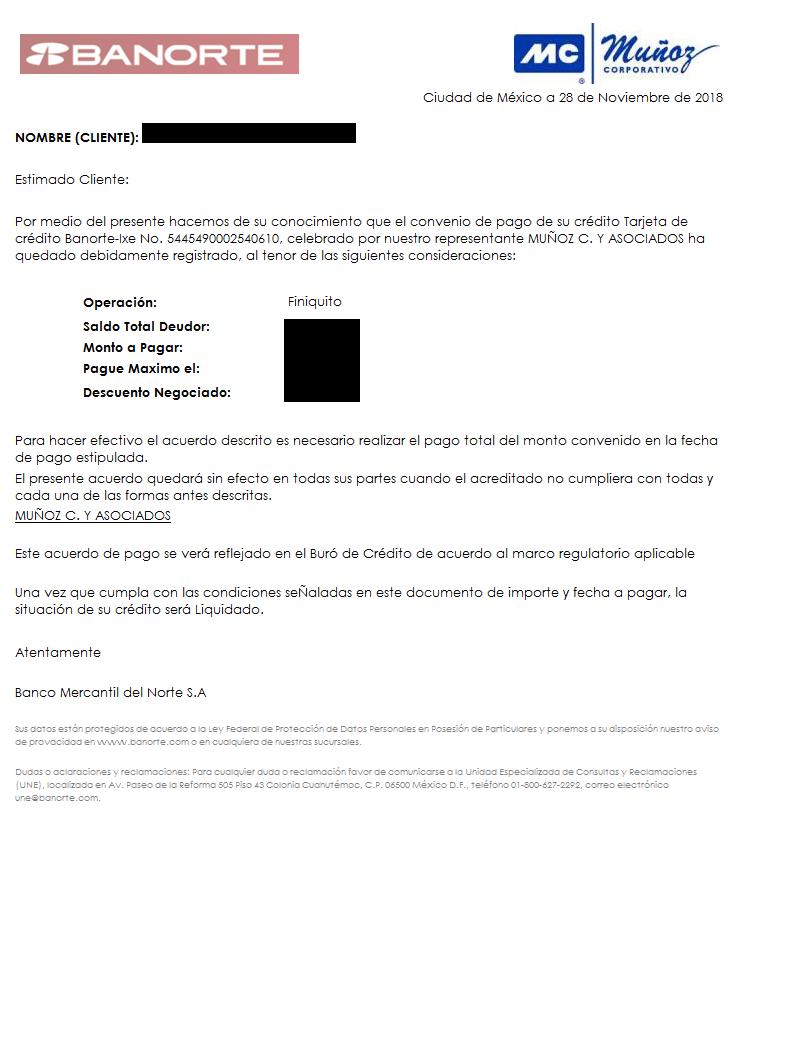 Ayuda con Carta Covenio Banorte Y Muñoz Corporativo 54454910