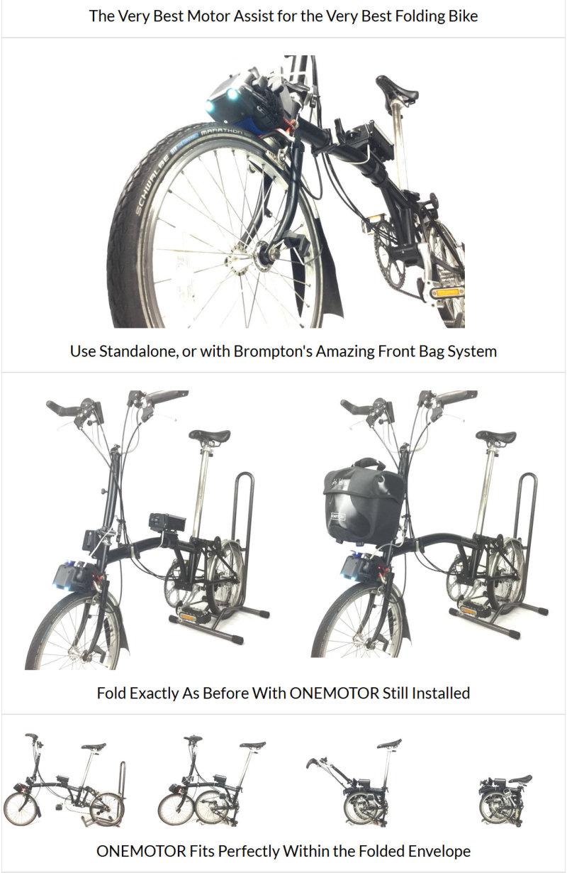 Kit électrique pour le Brompton [Brompton électrifié] - Page 2 Onemot11
