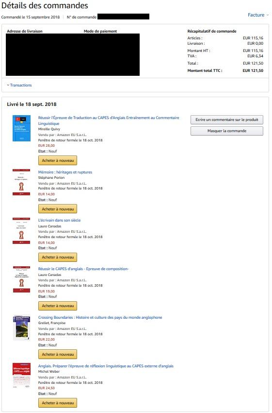 Vente de livres pour la préparation au CAPES externe anglais  Livres10