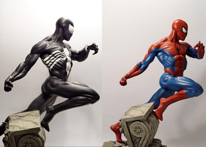 Transfo statue Spiderman au 1/6ème Compar10