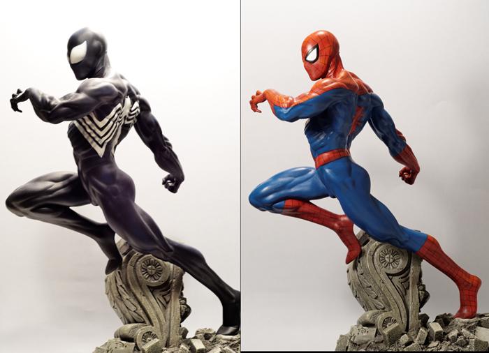 Transfo statue Spiderman au 1/6ème Compar11