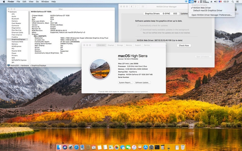 Web Drivers 10.13 macOS High Sierra NVIDIA GeForce GT 1030 - Page 3 Gt103011