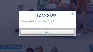 """""""Cannot Load Game: Error 3"""" Screen10"""