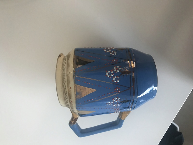 Jug Made in England blue and gold 285e8110