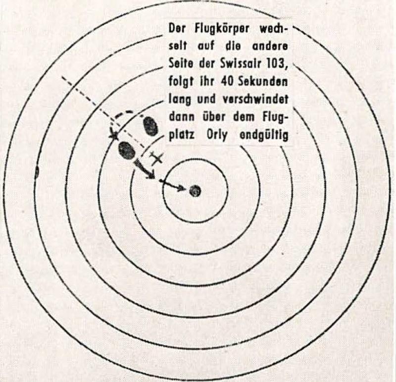 (1956) L'affaire de l'aéroport d'Orly un ovni sur le radar Orly310