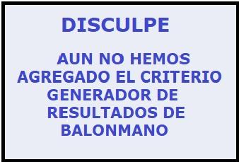 CRITERIO GENERADOR DE RESULTADOS - BALONMANO Cgr_ba14