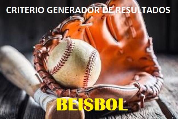 CRITERIO GENERADOR DE RESULTADOS - BEISBOL Cgr_be21