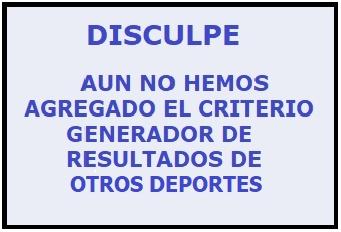 CRITERIO GENERADOR DE RESULTADOS - OTROS DEPORTES  Cgr_ot11