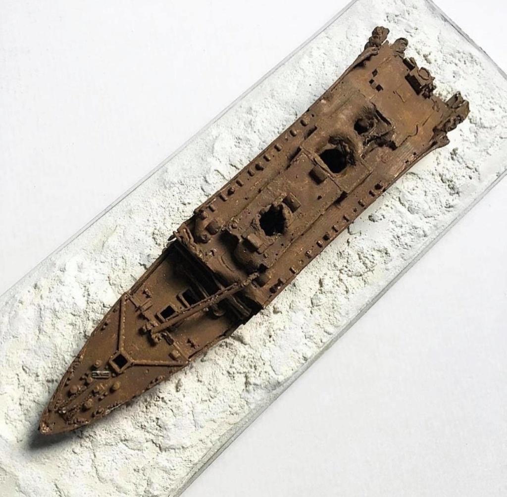 Réalisation de l'épave du Titanic au 1/700. 72441910