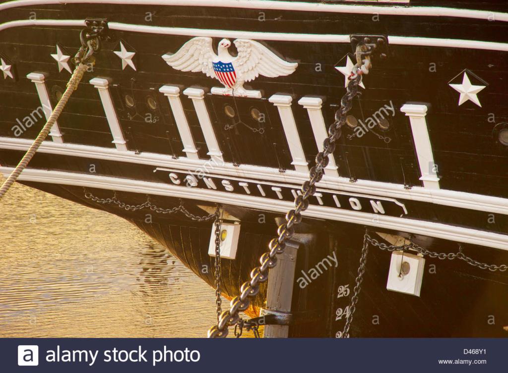 USS CONSTITUTION - Catene del timone La-ser10