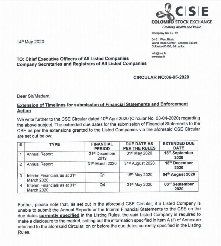 EAST WEST PROPERTIES PLC (EAST.N0000) - Page 11 Deadli10