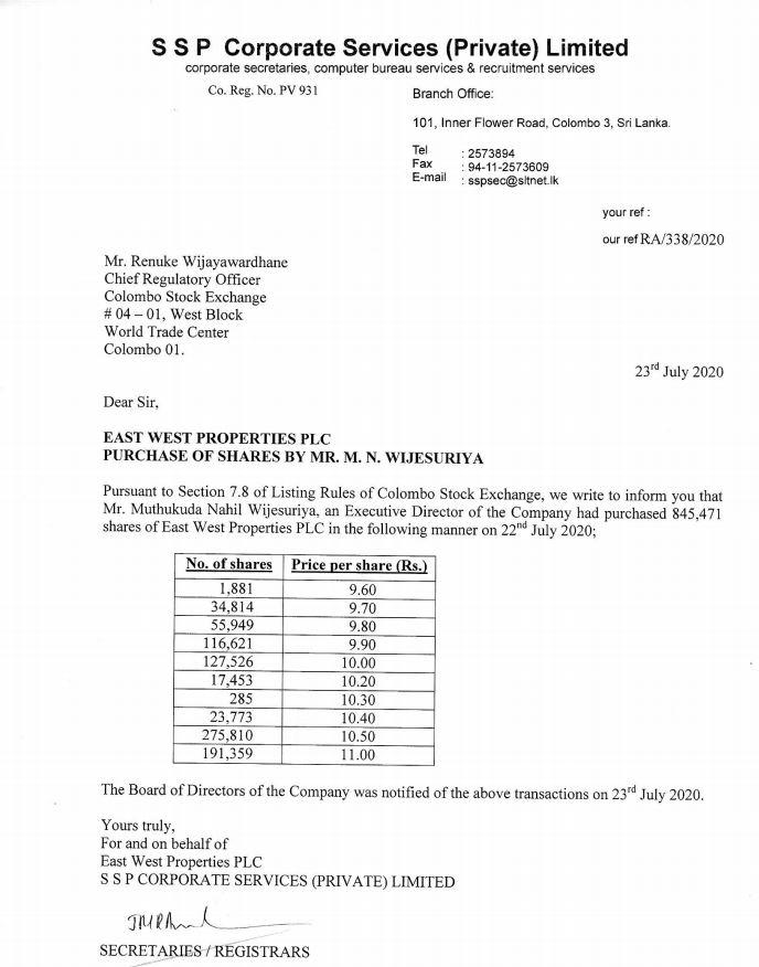 EAST WEST PROPERTIES PLC (EAST.N0000) - Page 7 East_n12