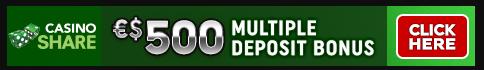casino share get 500 multiple deposit bonus