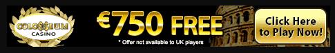 colosseum casino get 750 free