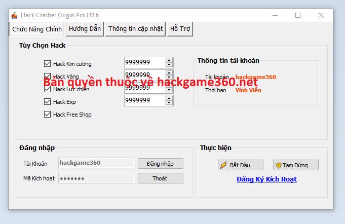 Hack Crasher Origin miễn phí 2021 Crassh10