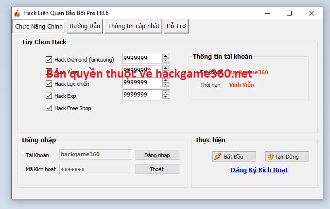 Hack Liên Quân Bảo Bối mới nhất Lienqu10