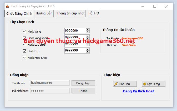 Hack Long Kỷ Nguyên miễn phí Longky10