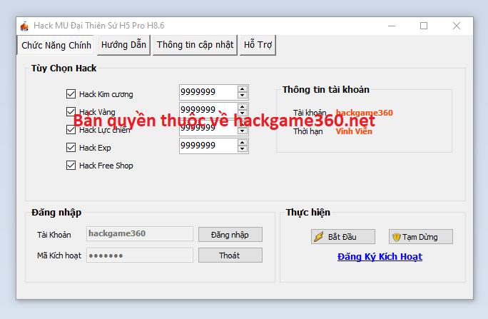 Hack MU Đại Thiên Sứ H5 miễn phí 2021 Mudait10