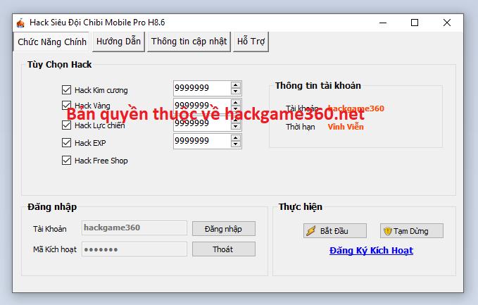 Hack Siêu Đội Chibi Mobile miễn phí Sieudo10