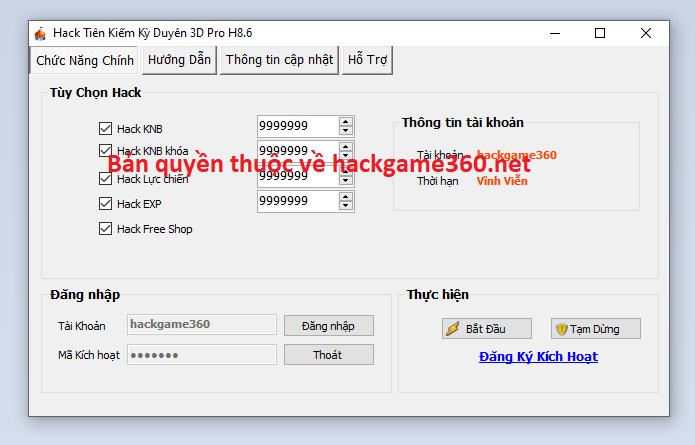 Hack Tiên Kiếm Kỳ Duyên 3D miễn phí Tienki10