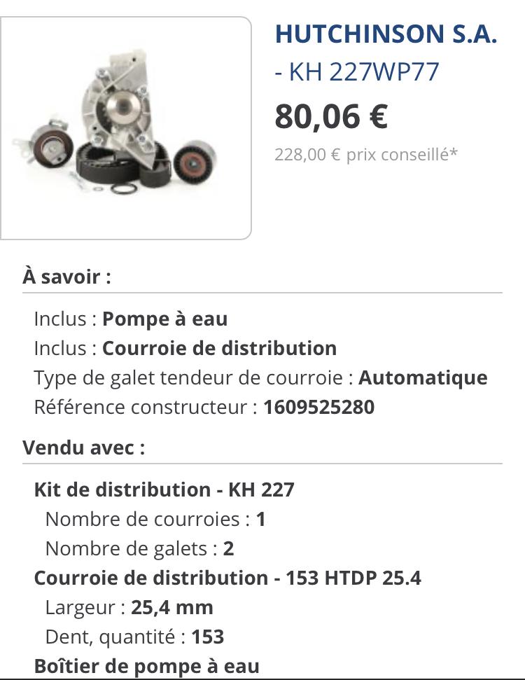 Pièces courroie de distribution  F79dce10