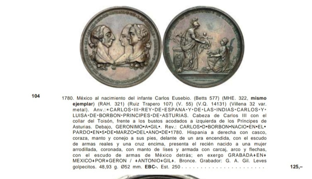 Medalla Gerónimo Antonio Gil 1780. México Img_2046