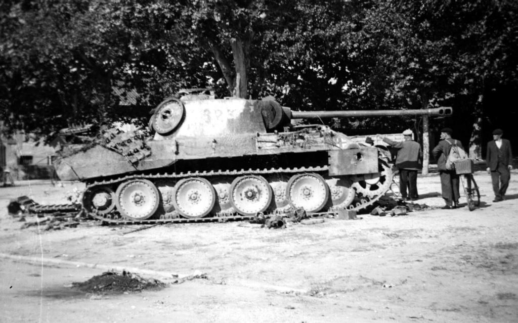 Photos de chars allemands détruits à la bataille de Meximieux le 1/09/1944 1998_110