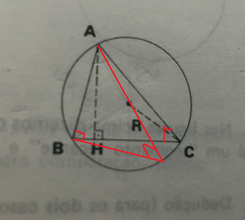 Raio da circunferência circunscrita ao triangulo  Whatsa10