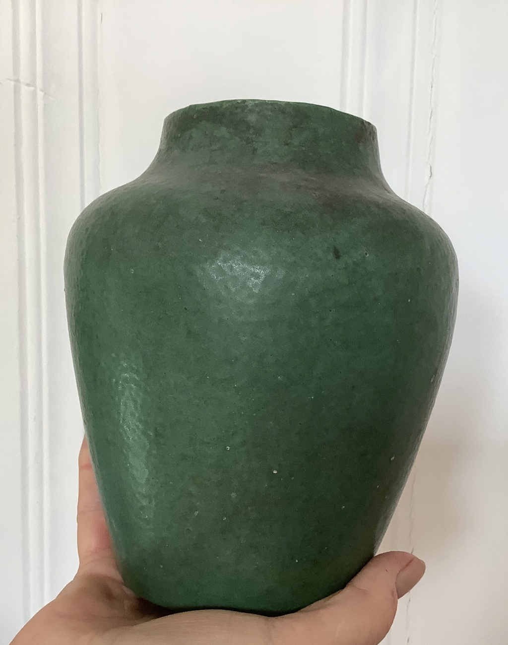 Help ID teal green vase,maybe art pottery? 02dc4910