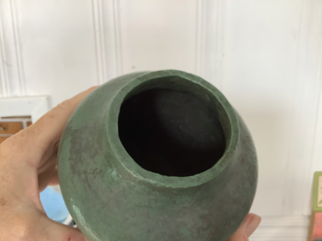Help ID teal green vase,maybe art pottery? B8d8e710