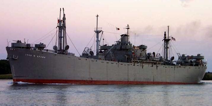 SS JOHN W BROWN  1/350  Trumpeter Brown-10