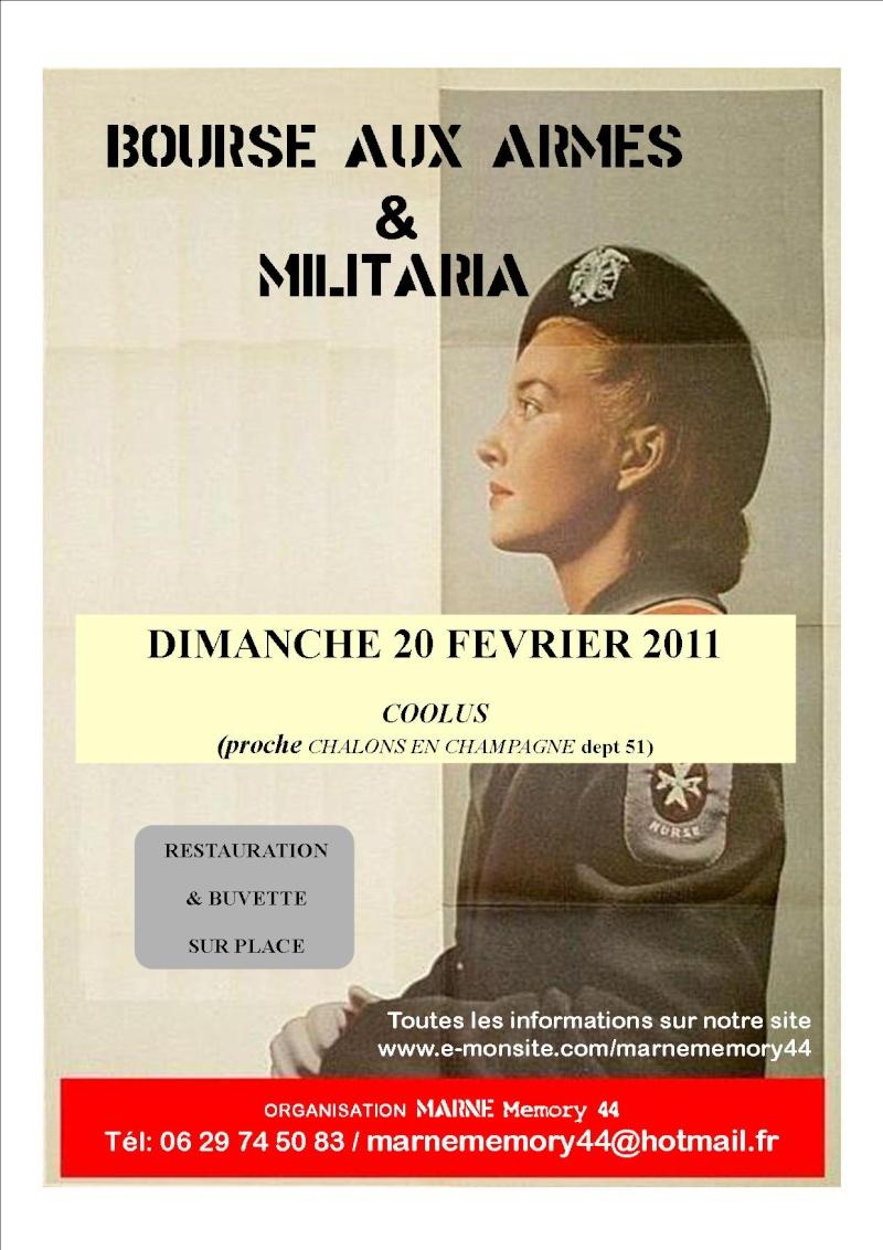 Bourse aux armes et militaria Marne Memmory 44 le 20/02/2011 Affich12