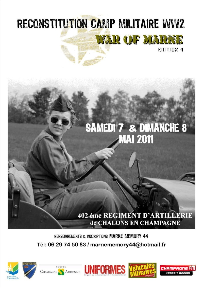 WAR of MARNE Edition 4 2011, c'est parti !!!! Affich15