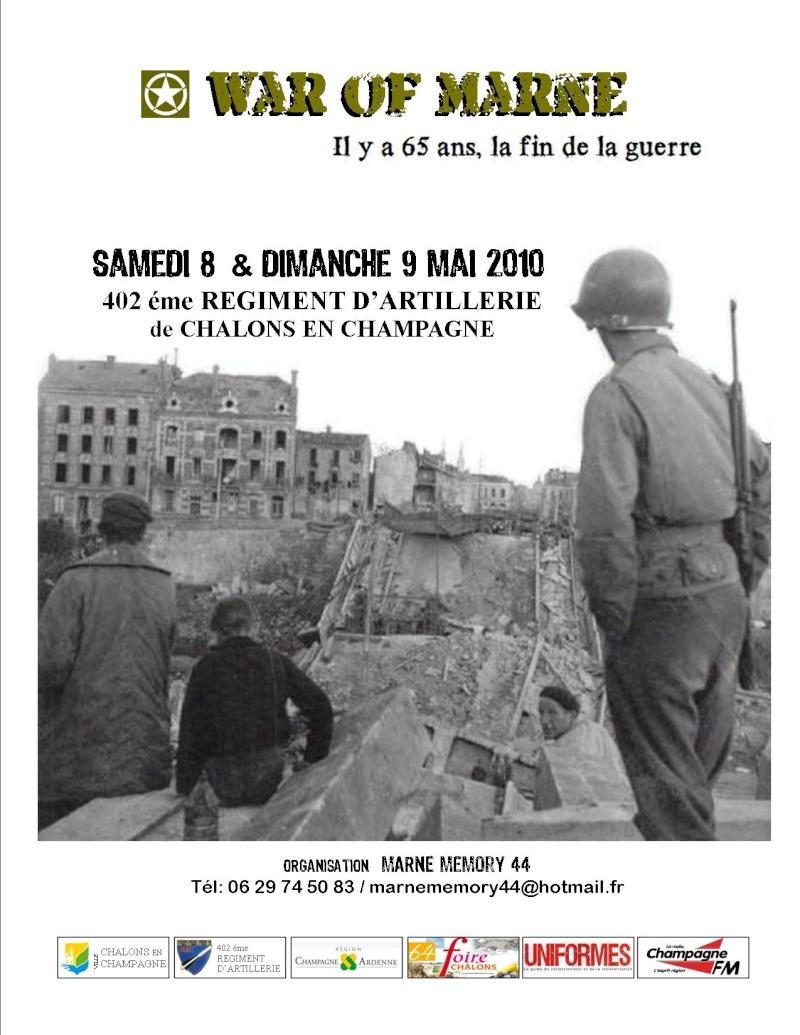 MAI 1945,  MAI 2010, 65éme ANNIVERSAIRE, MARNE Memory 44 Couver10