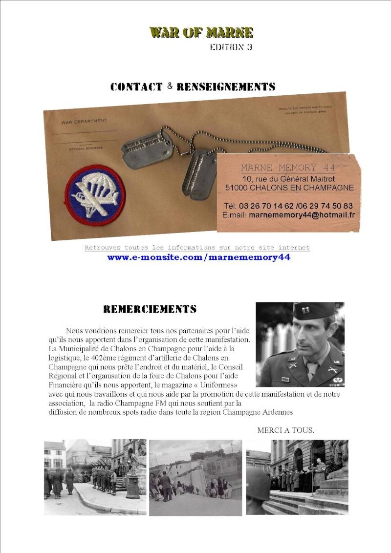 MAI 1945,  MAI 2010, 65éme ANNIVERSAIRE, MARNE Memory 44 P513