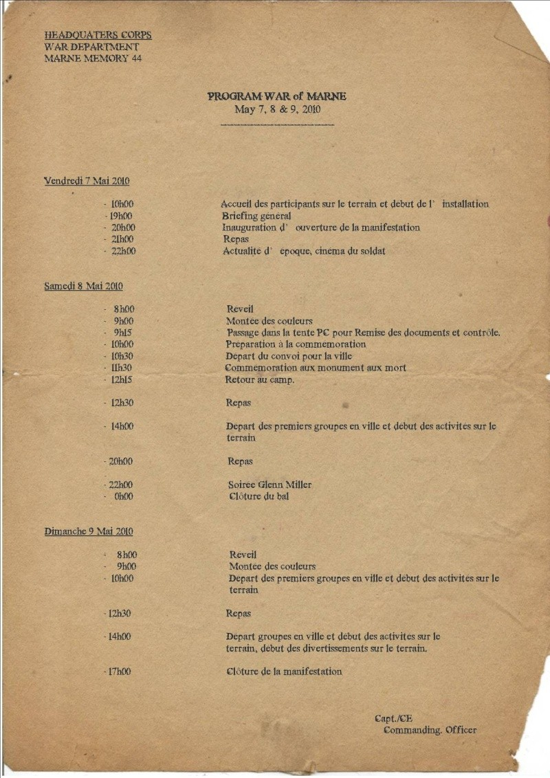 MAI 1945,  MAI 2010, 65éme ANNIVERSAIRE, MARNE Memory 44 Progra10