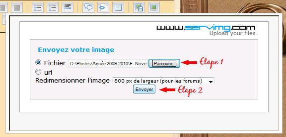Tutoriel pour héberger une image Screen13